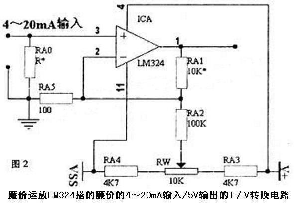 电路应用示意图:                         rcv420是一种精密的i/v